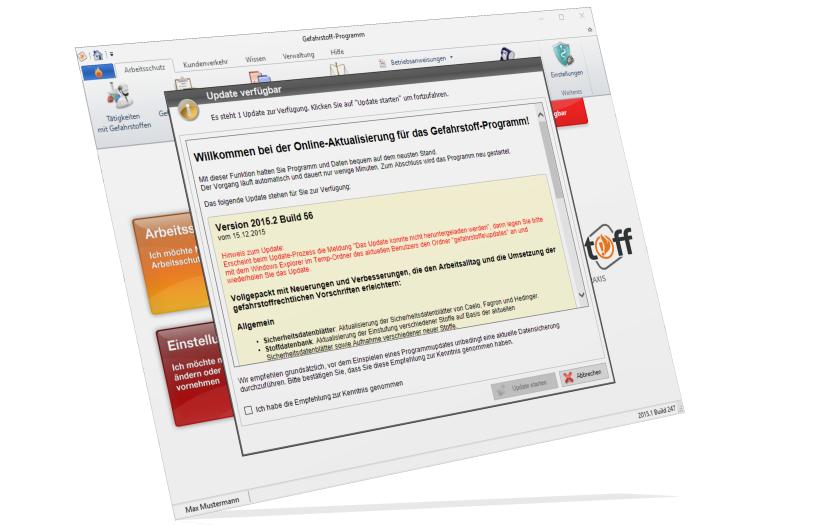 Gefahrstoff-Programm für Apotheken - Update-Hinweise 2015.2