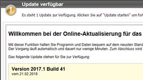 Wartungsupdate zur Version 2017.1 mit aktualisierten BAK-Standards verfügbar
