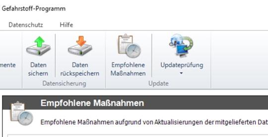 """Update 2020.1 mit Datenaktualisierungen und neuer Funktion """"Empfohlene Maßnahmen"""" verfügbar"""